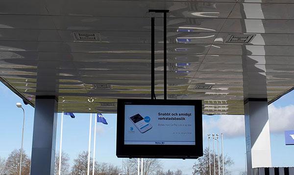 deckenmontiertes LCD Digital Signage Schutzgehäuse