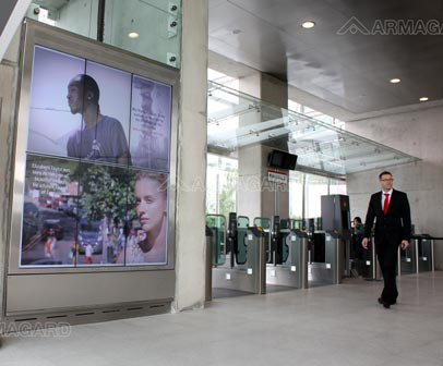 Digital Signage im Londoner Emirates Cable Car Station
