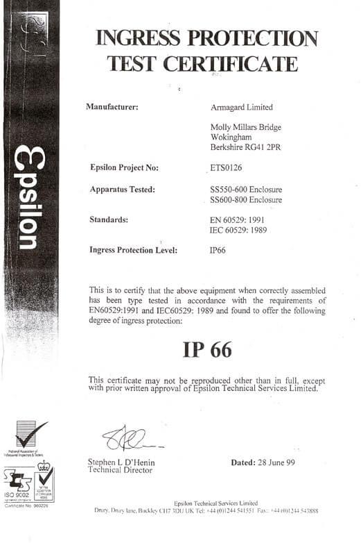 IP66 Zertifikat