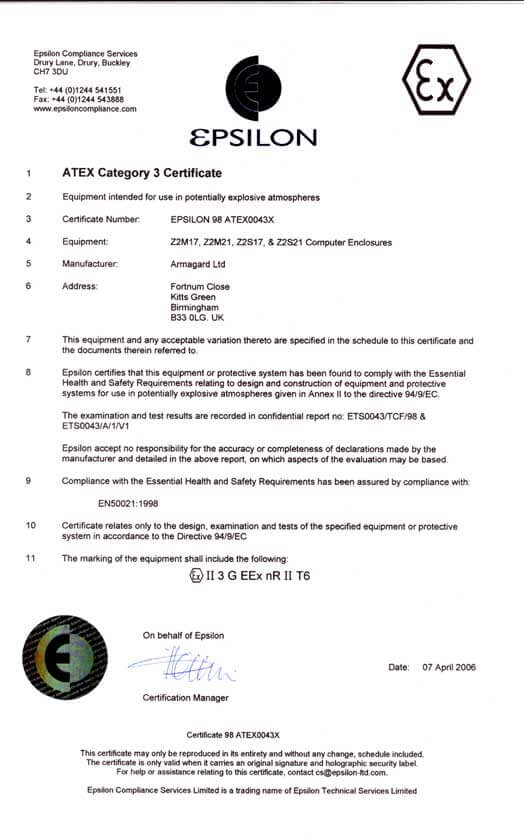 Zone 2 Zertifikat