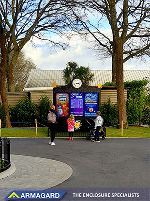 Paultons Park Outdoor digital signage eingerichtet