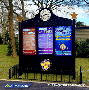 Paultons Park Outdoor digital signage