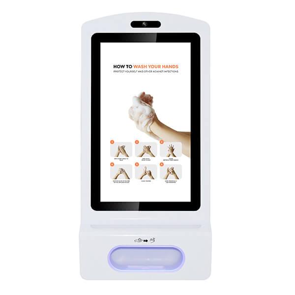 Digitaler Kiosk Mit Desinfektionsmittel - Vorderansicht