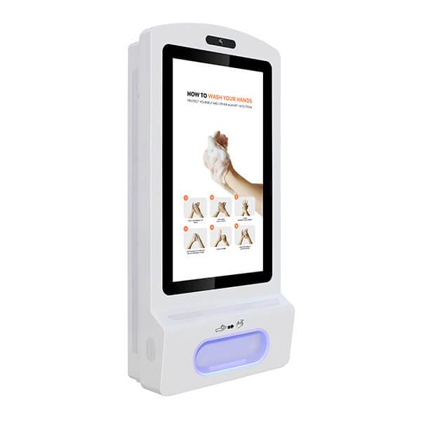 Digitaler Kiosk Mit Desinfektionsmittel - Rechte Ansicht