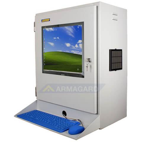industrie pc geh use staubdicht schutz f r lcd monitor und thin clients in staubigen. Black Bedroom Furniture Sets. Home Design Ideas