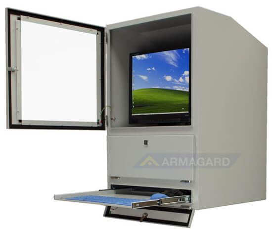 PC Schrank Industrie. IP54 Computer, Tastatur, Monitorschutz in ...