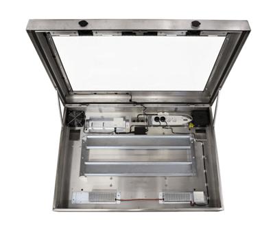 Ein Edelstahl LCD Schutzgehäuse