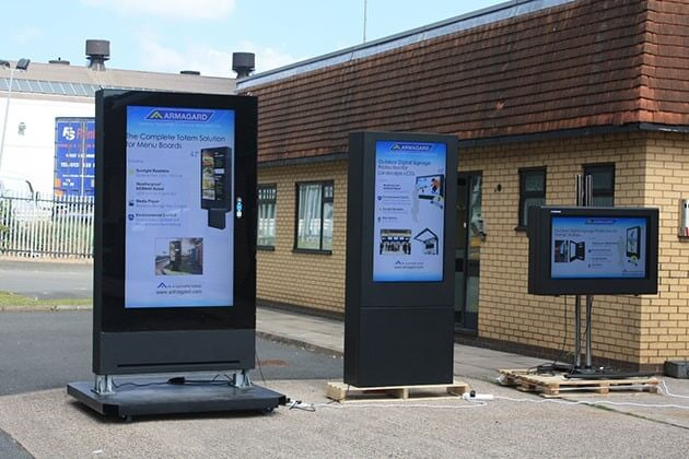 Digitale werbedisplays