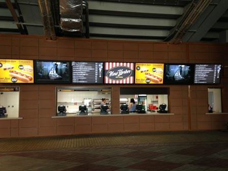 indoor menus auf digitalen bildschirmen