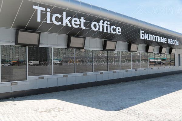 Outdoor Digital Signage im Einsatz an Ticket Verkaufsstellen
