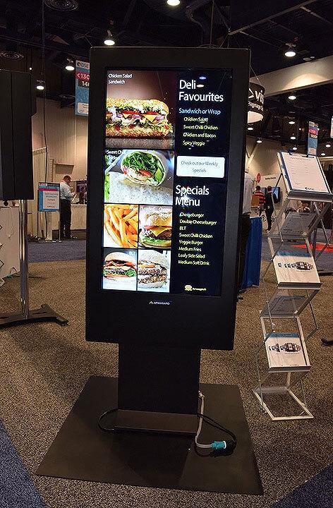 Outdoor menus auf digitalen bildschirmen