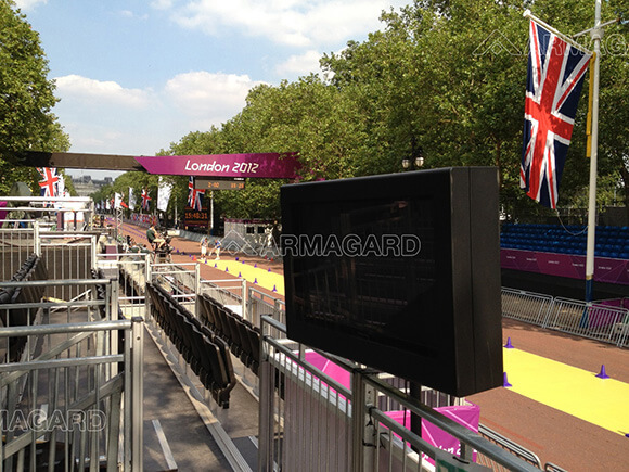 Outdoor Stele entlang The Mall bei den 2012 Olympischen Spielen in London