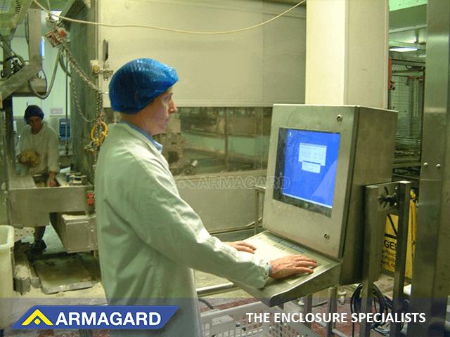 Edelstahl Computer Schutzgehäuse für Lebensmittelproduktionen